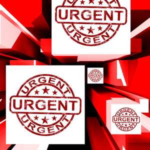 Urgent On Cubes Shows Urgent Priority