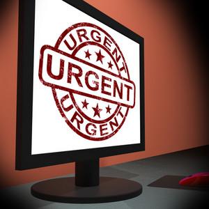 Urgent On Monitor Showing Rush