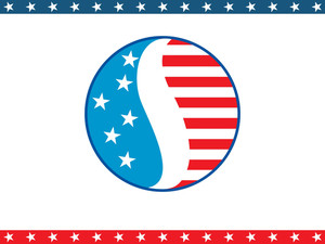 Us Background With Circle