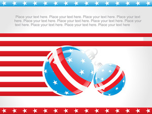 Us Background With Decorated Ball