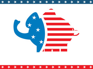 Us Background With Elephant