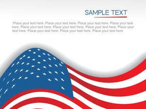 Us Flag On White Background