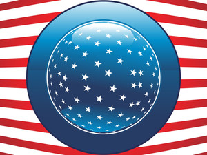 Us Flag With Button