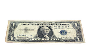 Us Vintage Silver Certificate 1957 Isolated
