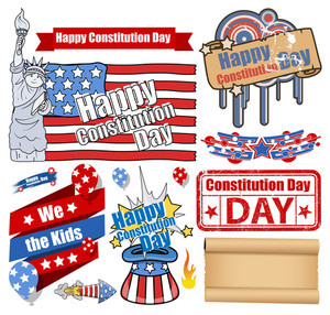 Usa Constitution Day Design Vectors