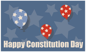 Usa  Constitution Day Vector Illustration