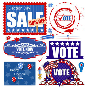Usa Election Day Sale Graphics Vector Set