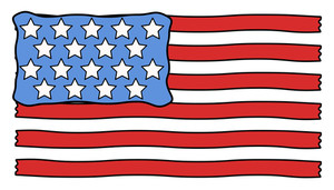 Usa Flag Cartoon Vector