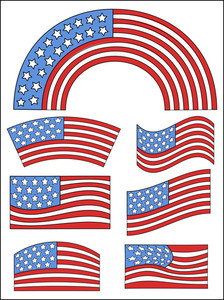 Usa Flag Theme Design  Constitution Day Vector Illustration