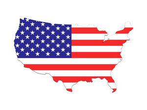 Usa Map And Flag