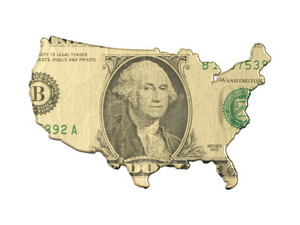 Usa Map With Us Dollar