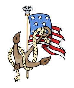 Usa Patriotic Tattoo Vector Illustration