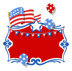 Usa Patriotic Theme Celebration Background Vector