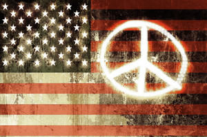 Usa Peace Sign