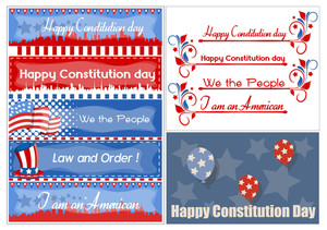 Usa Theme  Constitution Day Vector Illustration