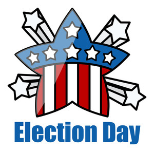 Usa Theme Democracy Election Day Vector Illustration
