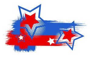 Usa Theme Grunge Stars Vector