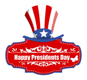 Usa Theme Happy Presidents Day Greeting Banner Vector