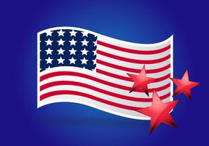 Usa Wavy Flag