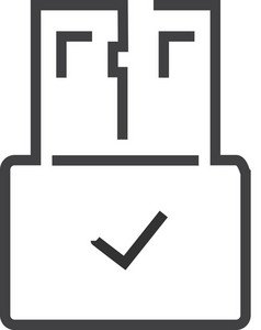 Usb 2 Minimal Icon