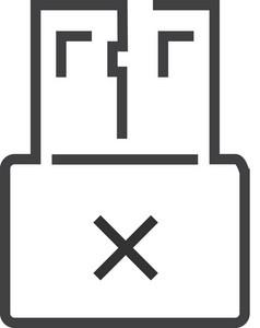 Usb 3 Minimal Icon