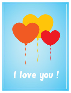 Valentine Balloons Greeting Card