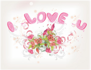 Valentine' Day Background Vector Illustration