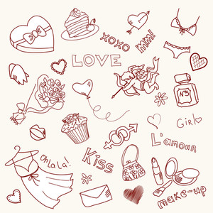 Valentine Doodles-