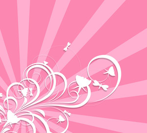 Valentine Flourish Background