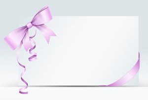 Valentine Greeting Card With Ribbon Bow
