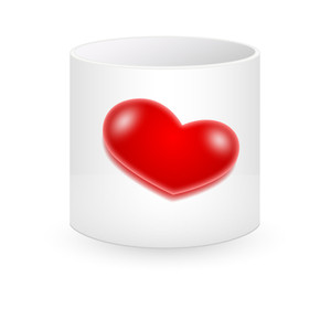 Valentine Heart Cup