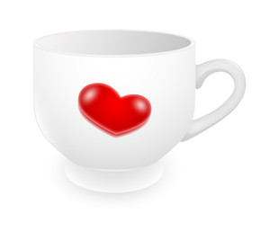 Valentine Heart Tea Cup