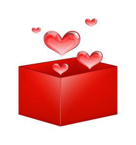 Valentine Hearts Box Vector