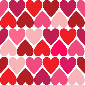 Valentine Hearts Seamless Pattern