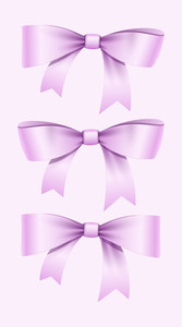 Valentine Ribbon Bow Set
