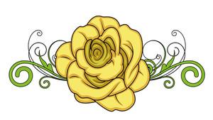 Valentine Rose Divider