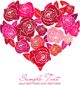 Valentine Rose Heart-