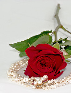 Valentine Roses And Pearls