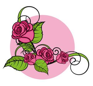 Valentine Roses Corner Frame