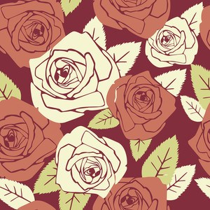 Valentine Seamless Pattern With Rose Design--