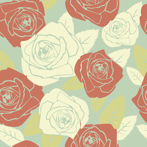 Valentine Seamless Pattern With Rose Design