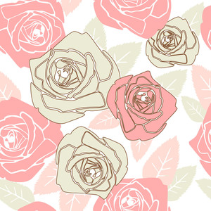 Valentine Seamless Pattern With Rose Design-