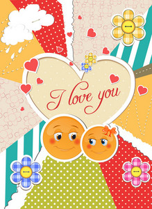 Valentine's Day Background Vector Illustration