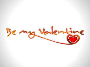 Valentines Day Background With Text Be My Valentine