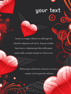 Valentine's Day Invitation Vector Illustration