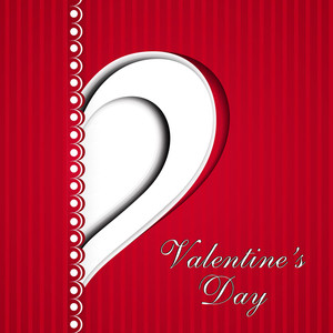 Valentines Day Love     With Heart Design