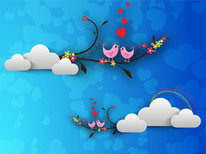 Valentines Day Love     With  Love Birds