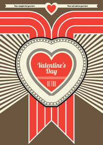 Valentines Day Retro Poster Design