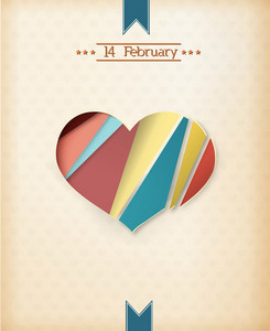 Valentine's Day Vector Illustration With Abstract Hart