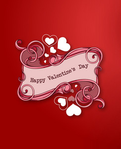 Valentine's Day Vector Illustration With Floral Frame And Spring Flowers